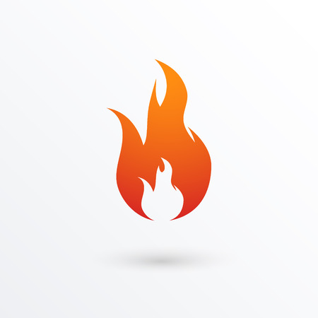 Illustration for Fire flames icon, illustration - Royalty Free Image