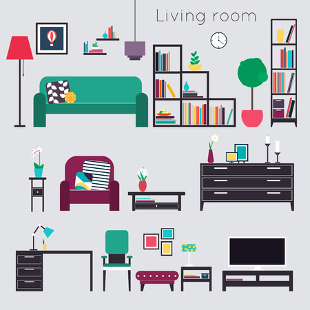 Living room. Furniture and Home Accessories