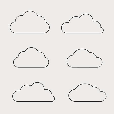 Illustration pour Cloud shapes collection. Cloud icons for cloud computing web and - image libre de droit