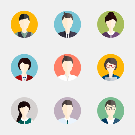Illustration pour People icons. People Flat icons collection - image libre de droit