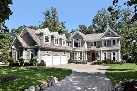 Luxury new construction home with three car garage
