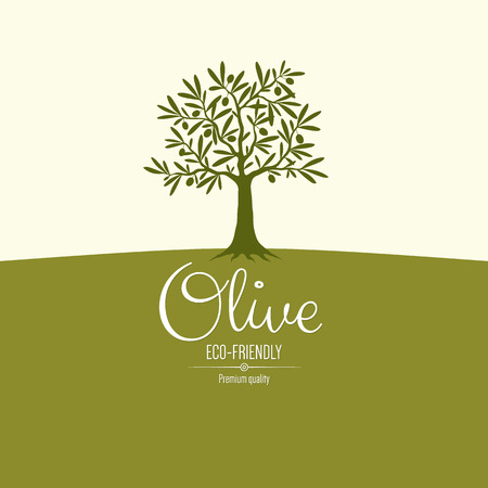 Illustration pour Olive label design - image libre de droit