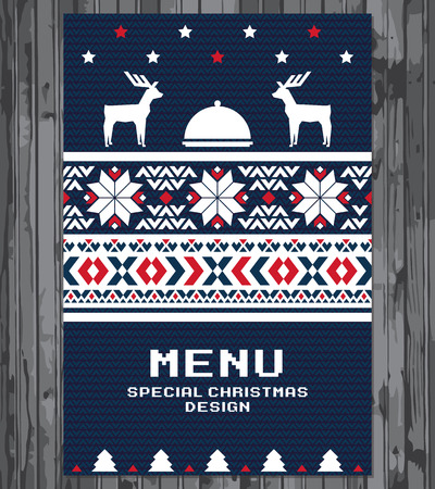 Illustration for Special Christmas festive menu design - Royalty Free Image