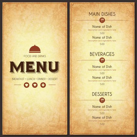 Illustration pour Restaurant menu design - image libre de droit