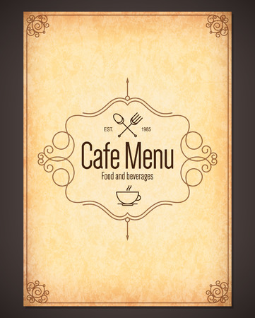 Ilustración de Menu for restaurant, cafe, bar, coffee house - Imagen libre de derechos