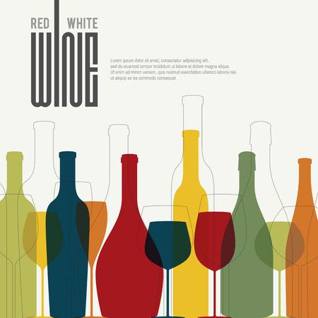 Illustration pour Wine list design - image libre de droit