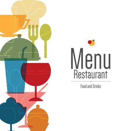 Illustration pour Restaurant menu. Flat design - image libre de droit