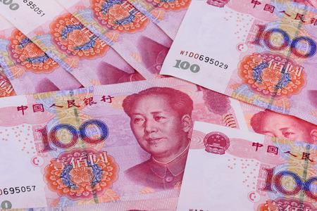 Photo pour Renmingbi close up view - image libre de droit