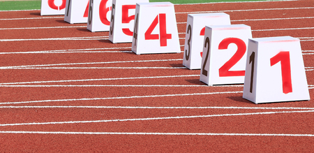Photo for Track number in track and field - Royalty Free Image