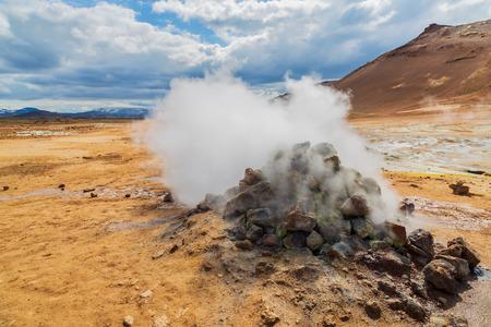 Foto de Hverir hot springs, Iceland - Imagen libre de derechos