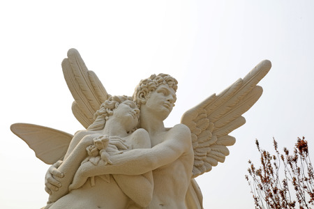 Photo for Cupid and psyche sculpture at a park, China   - Royalty Free Image