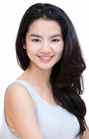 Photo for Headshot of an attractive asian lady in casual cloth - Royalty Free Image