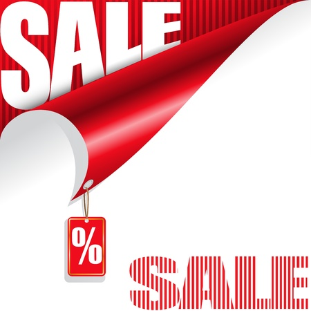 white and red  background with elements of the sale for your design