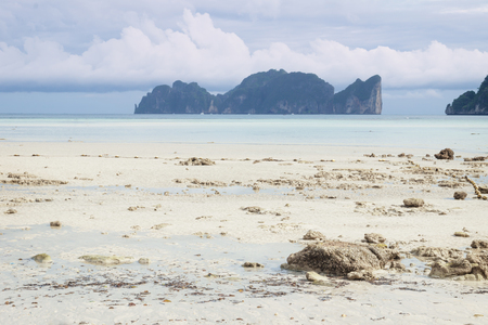 Photo for Koh Phi Phi Leh view from the sunny beach of Koh Phi Phi Don, Thailand - Royalty Free Image