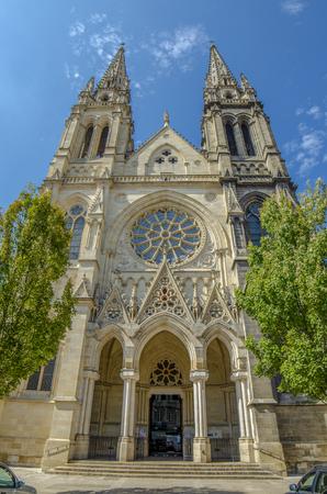 Photo pour Bordeaux, France, September 2014: Catholic Church Saint Louis of Chartrons - image libre de droit
