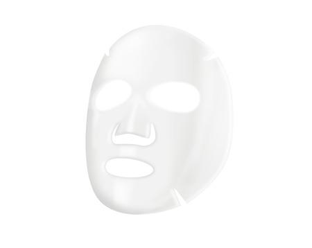 Foto de Facial sheet mask on white background - Imagen libre de derechos