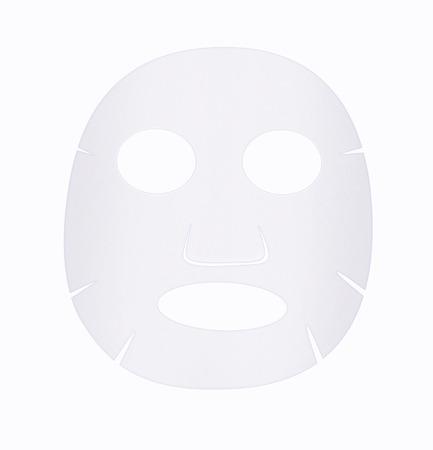 Foto de Facial sheet mask front side on white background. - Imagen libre de derechos