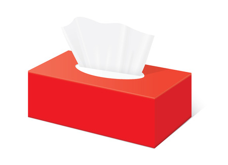 Illustration pour Red Tissue box blank label and no text for mock up packaging - image libre de droit