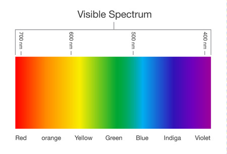 Ilustración de Chart of Visible spectrum color. Illustration about Human vision and light. - Imagen libre de derechos