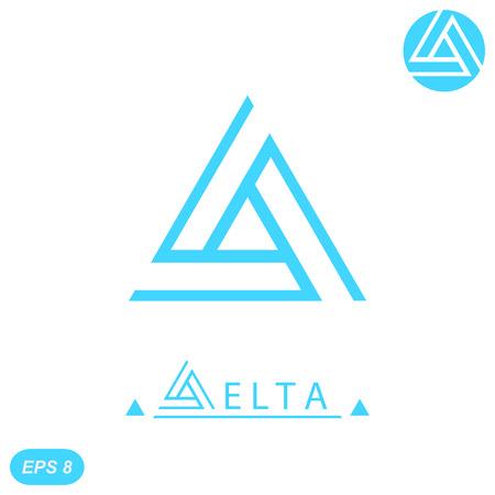 Illustration pour Delta letter  template, 2d flat illustration, vector, eps 8 - image libre de droit
