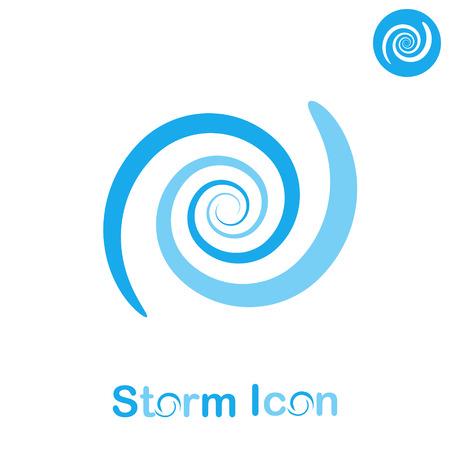 Ilustración de Storm spiral concept on white background, 2d flat illustration, vector  - Imagen libre de derechos
