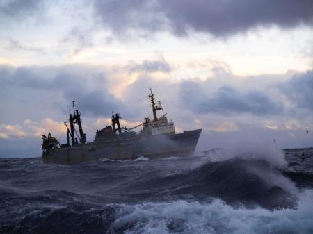 Strong storm in Norwegian Sea
