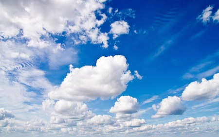 Cloudscape. Day Blue sky and white cloud.
