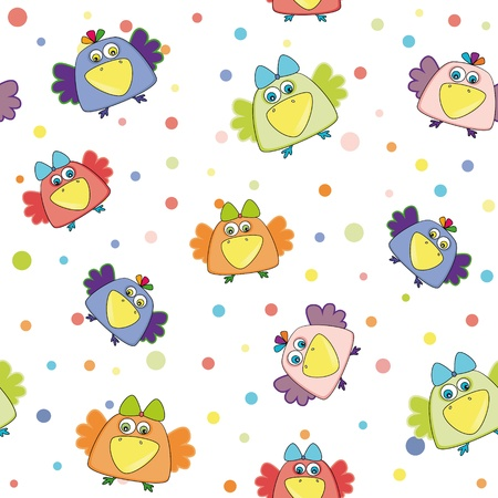 seamless vector pattern with multi-colored ravens