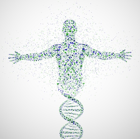 Photo for Abstract model of man of DNA molecule - Royalty Free Image