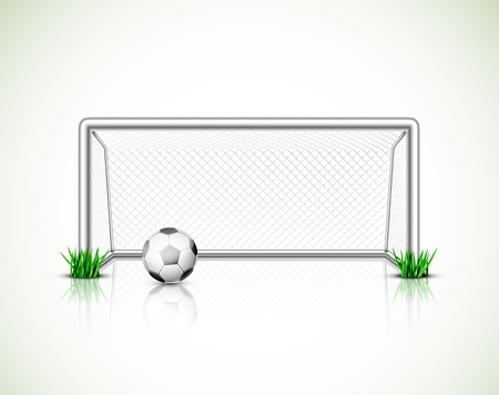 Illustration pour Isolated soccer goal and ball - image libre de droit