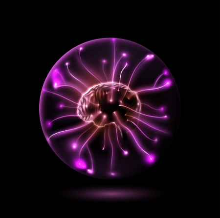 Illustration pour Brain in sphere - image libre de droit