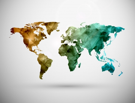 Illustration pour World map, grunge. Illustration contains transparency and blending effects - image libre de droit