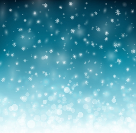 Illustration for Winter background with snowflakes - Royalty Free Image