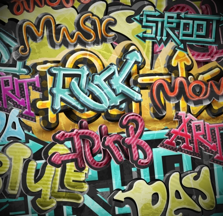 Illustration pour Graffiti grunge background, eps 10 - image libre de droit