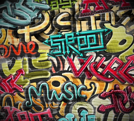 Illustration pour Graffiti grunge texture, eps 10 - image libre de droit
