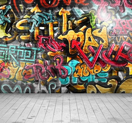 Illustration pour Graffiti on wall, eps 10 - image libre de droit