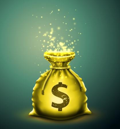 Illustration pour Bag of money - image libre de droit