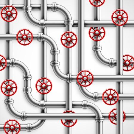 Illustration pour Metal pipes, industrial background - image libre de droit