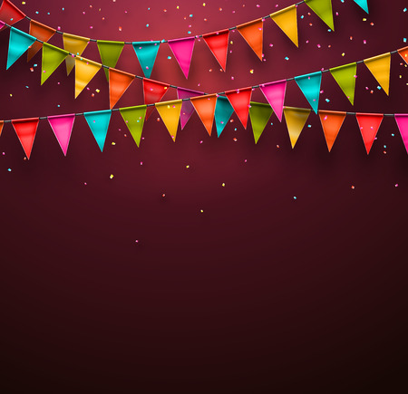 Ilustración de Festive background with flags - Imagen libre de derechos