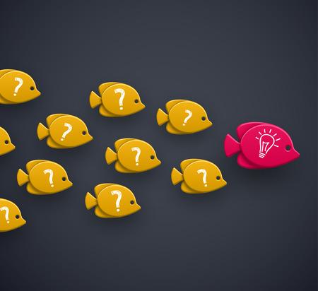 Illustration pour Team leader idea concept - image libre de droit