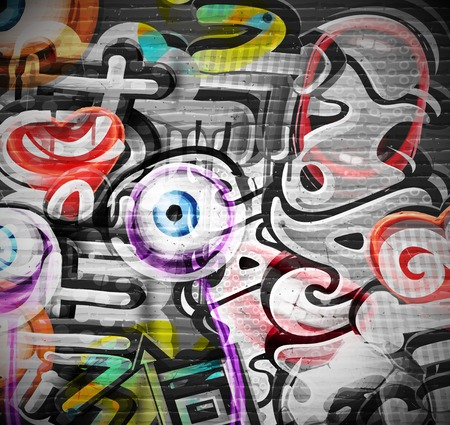 Illustration pour Graffiti grunge background  - image libre de droit