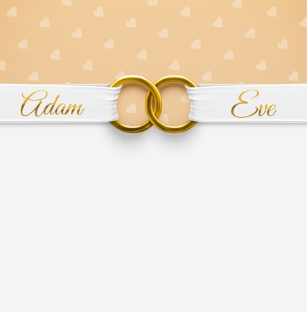 Foto für Wedding Background with rings - Lizenzfreies Bild