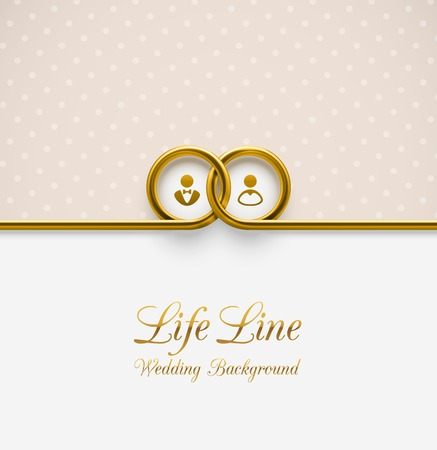 Illustration for LifeLine, wedding background - Royalty Free Image