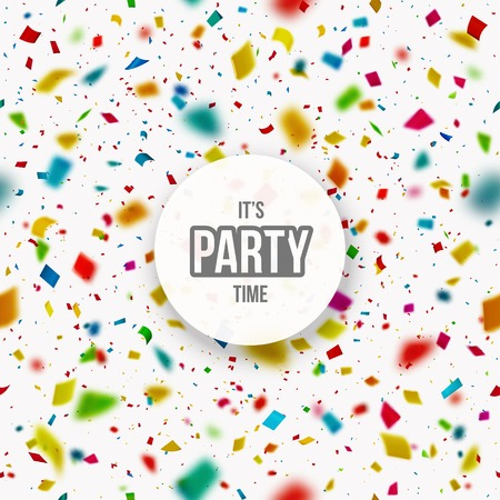 Illustration pour Confetti background, it\'s party time, eps 10 - image libre de droit