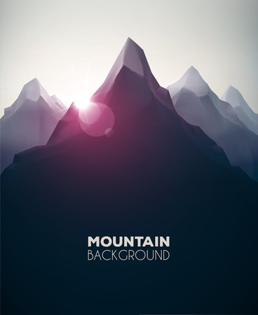 Photo for Mountain landscape, nature background, eps 10 - Royalty Free Image