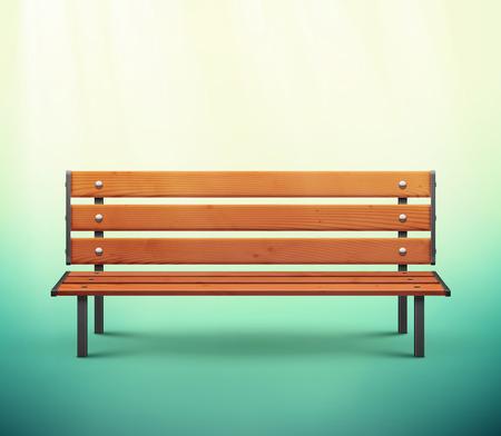 Illustration pour One isolated bench, eps 10 - image libre de droit