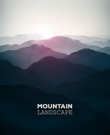 Illustration pour Mountain background, landscape - image libre de droit