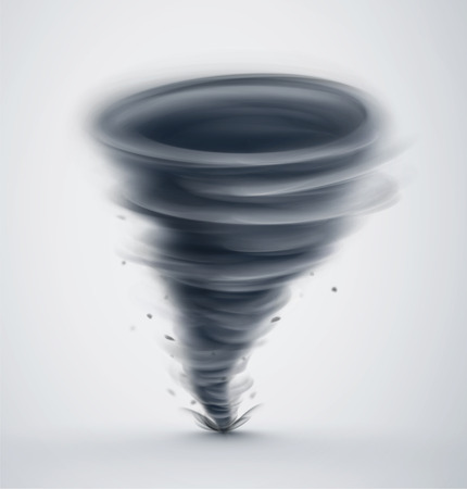 Illustration pour Isolated dark tornado - image libre de droit