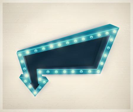 Ilustración de 3D retro arrow, vintage banner  - Imagen libre de derechos