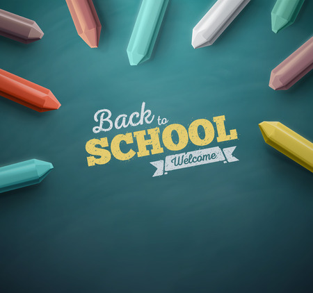 Photo pour Welcome back to school, eps 10 - image libre de droit